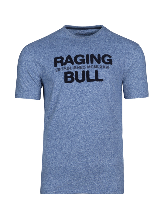 Raging Bull Boucle RB Tee - Mid Blue