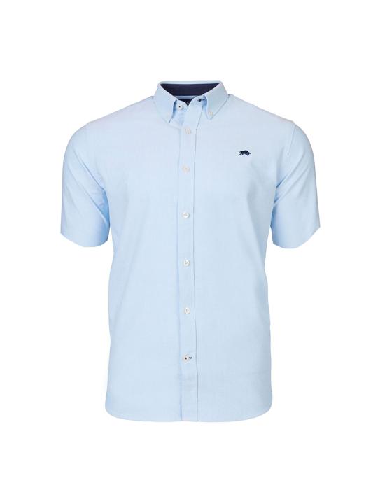 Raging Bull Short Sleeve Signature Poplin Shirt - Sky Blue
