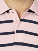 Raging Bull Breton Stripe Polo - Pink