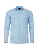 Raging Bull Long Sleeve Ditzy Floral Shirt - Sky Blue