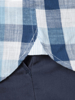 Raging Bull Big & Tall Short Sleeve Oversized Gingham Shirt - Navy