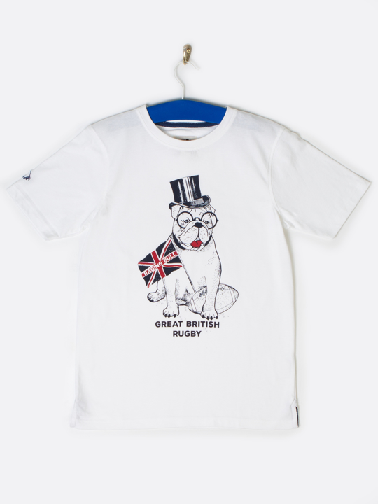 Raging Bull Bull Dog Tee - White