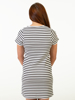 Raging Bull Breton Stripe Dress - White